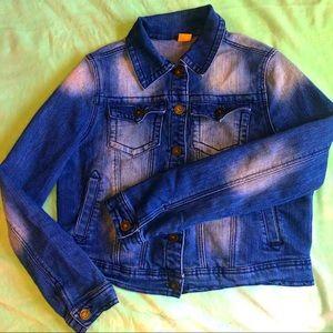 JouJou medium distressed jean jacket short denim
